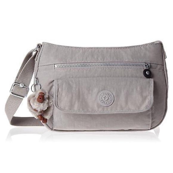 5bfe3888ea5 Kipling Bags | Syro Slate Grey Crossbody Shoulder Bag | Poshmark